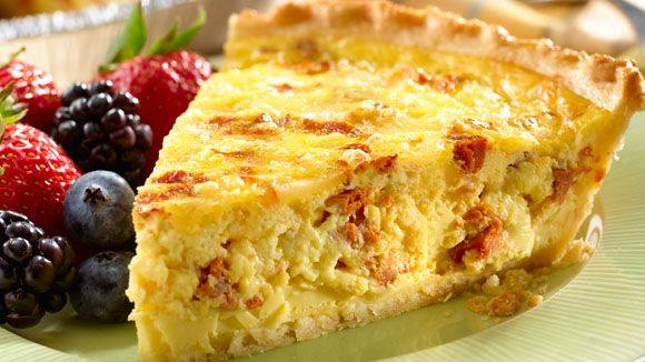 Chorizo and Cheddar Quiche