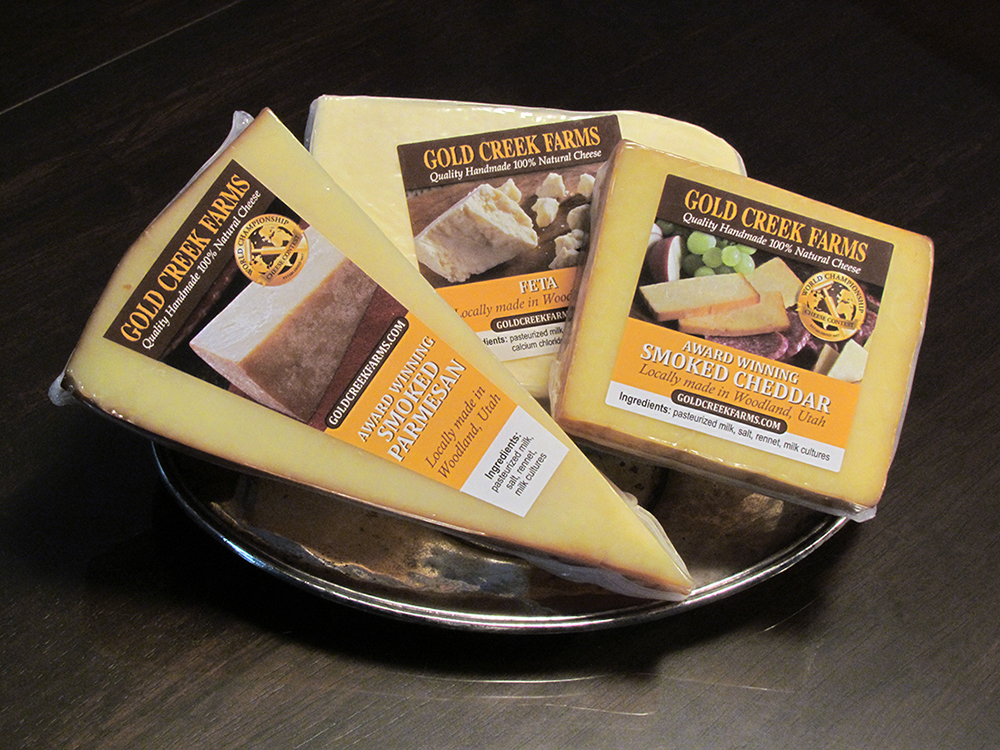 natural cheeses in a 3 pack